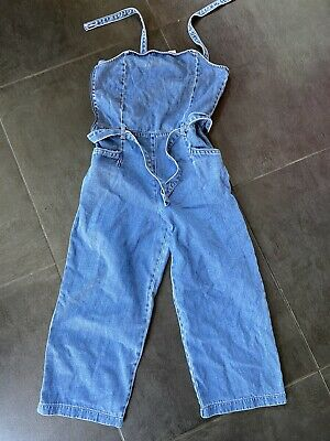 £4.99 • Buy Girls Next Denim Dungarees Age 16 Great Condition