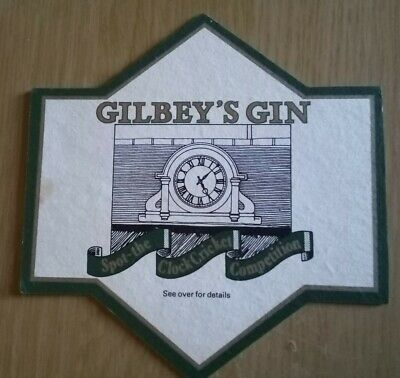 £0.99 • Buy Beer Mats Gilbey's Gin Cricket Clock Comp.the Oval 1980,s