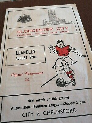 £3 • Buy Gloucester City V Chelmsford. Llanelly August 22 ND.