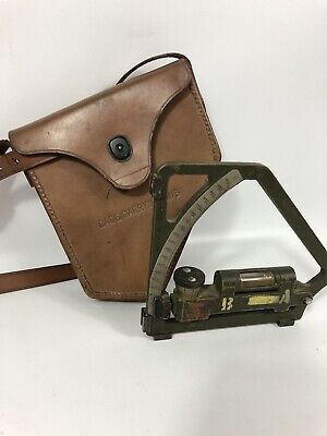 $163.35 • Buy US ARMY GUNNERS QUADRANT M1 IN LEATHER CASE M18 WWII Dated 1943