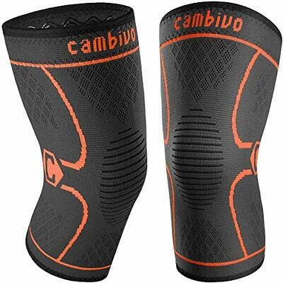 $19.99 • Buy Cambivo 2 Pack Knee Brace Compression Sleeve Support For Running Arthrit Size M