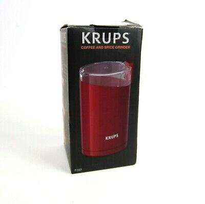 £21.72 • Buy New Krups Coffee & Spice Grinder F203 Red Stainless Steel Blade