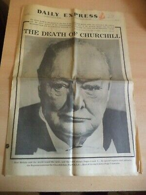 £9.99 • Buy OLD VINTAGE ORIG NEWSPAPER Daily Express 25 JAN 1965 Winston Churchill Death