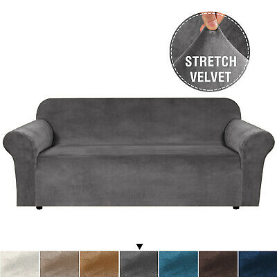 AU45.99 • Buy Velvet Plush Sofa Cover Stretch Couch Cover Furniture Protector For 1/2/3 Seater