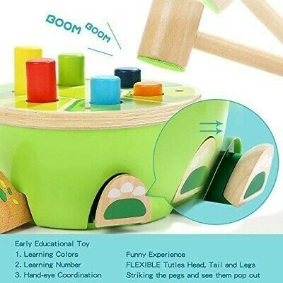 £14.99 • Buy TOP BRIGHT Hammering Pounding Bench Wooden Toy With Mallet, Gifts For 2 Year Old