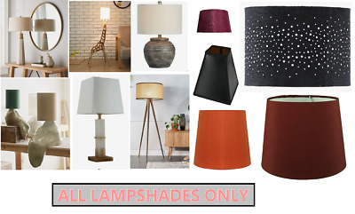 £8.80 • Buy Easy Fit Pendant Light Shade Fabric Drum Lampshade Floor, Ceiling Table Lamp
