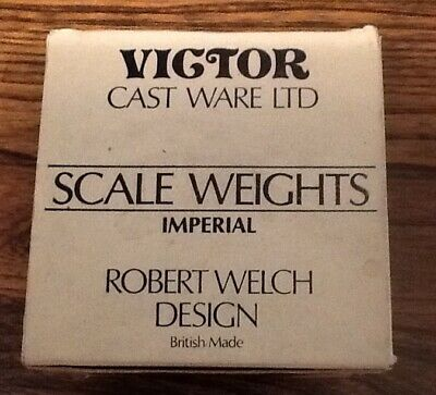 £10 • Buy Robert Welch Victor Set Of 8 Cast Iron & Brass Imperial Scale Weights 2lb-1/4oz