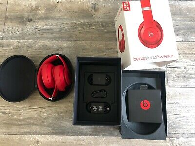 £100 • Buy Beats By Dr Dre Studio 3 Wireless Headphones **RED**-new (opened Boxed)