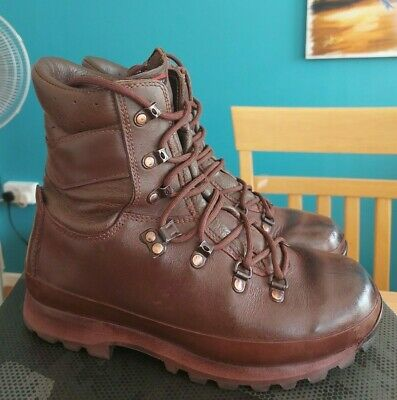 £42.95 • Buy GENUINE BRITISH ARMY FEMALES ALTBERG DEFENDER BROWN LEATHER BOOTS - Size 6M