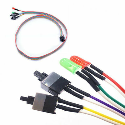 £2.08 • Buy ATX Computer Motherboard Power LED Cable Switch On/Off/Reset Button Replacement