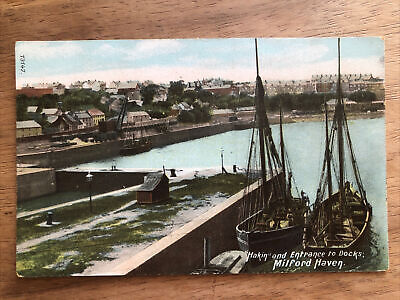 """£3.20 • Buy """"Hakin"""" And Entrance To Docks, Milford Haven Postcard"""