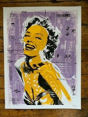 £15 • Buy ANTHONY COZZI Norma A - Purple/Yellow Screen Print Pure Evil Eine Dface Obey Etc