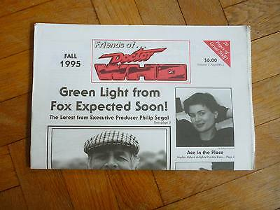 £5 • Buy Vintage Friends Of Doctor Dr Who Newspaper/Magazine. Fall 1995. Rare