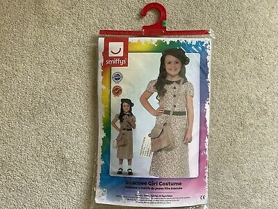 £4.20 • Buy Child Evacuee War Girl Pretty Fancy Dressing Up Costume Size Large - Vgc