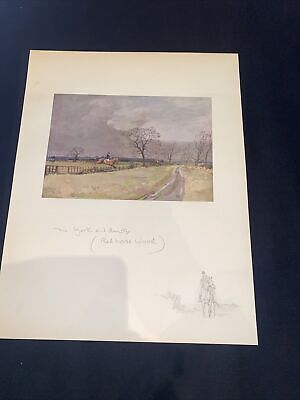 £15 • Buy 1928 Hunting Sketch Book Lionel Edwards Illustrated The York And Ainsty Redhouse
