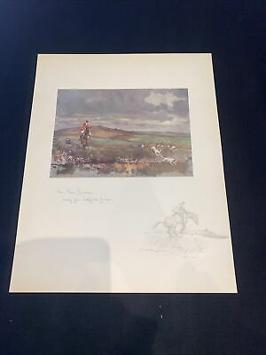£15 • Buy 1928 Hunting Sketch Book Lionel Edwards Illustrated The Four Burrow