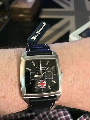£29.99 • Buy Genuine Ben Sherman Union Jack - 3 Sub Dial Watch With Day & Date Function Boxed