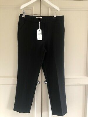 £15 • Buy JACK WILLS Black Cropped Slim Cigarette Tailored Trousers ~ Sz 10