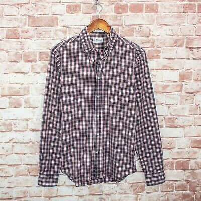 £24.77 • Buy GANT Rugger The Hugger Button Down Shirt Dreamy Oxford Plaid Size Small