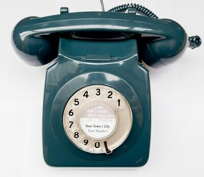 £69.99 • Buy Vintage 1970s Retro GPO 746 Dial Telephone - Blue - Fully Refurbished