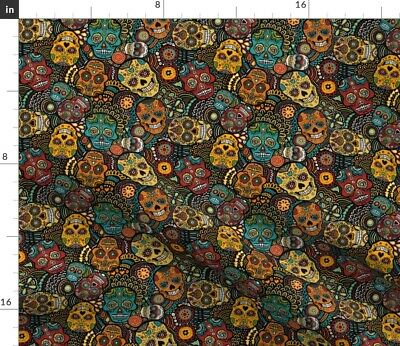 £9.20 • Buy Sugar Skulls, Mexican, Festive, Mexico, Day Of Spoonflower Fabric By The Yard