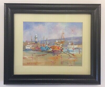 £75 • Buy Wilf Eaton Original Watercolour Of Boats In St.Ives Harbour Cornwall II