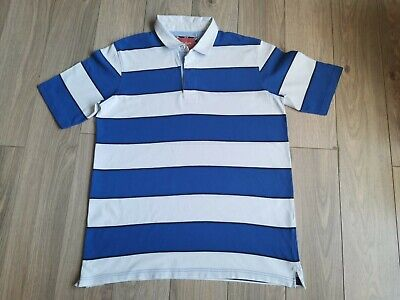 £7.80 • Buy Men's Blue Stripe (Bath Rugby), Cotton Polo Shirt, Size 2XL(48in Chest)