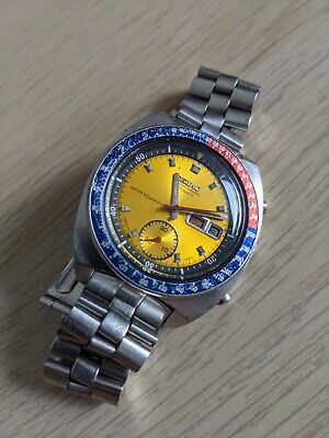 $ CDN1032.49 • Buy Vintage Seiko 6139-6002 Pogue Day Date Chronograph Automatic Steel Watch