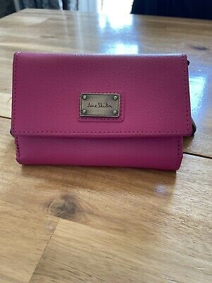 £10 • Buy Jane Shilton Genuine Leather Pink Purse With  Zip Pocket And Credit Card Holder