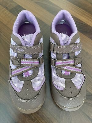 £7 • Buy Girls Purple/Lilac 'Daisy Explores' Trainers From Clarks Size 1F