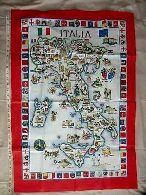 £6 • Buy Map Of Italy Extra Large Tea Towel - NEW / Unused