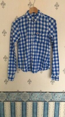 £3 • Buy FAB Blue And White Checked Shirt - Hollister (Size S)