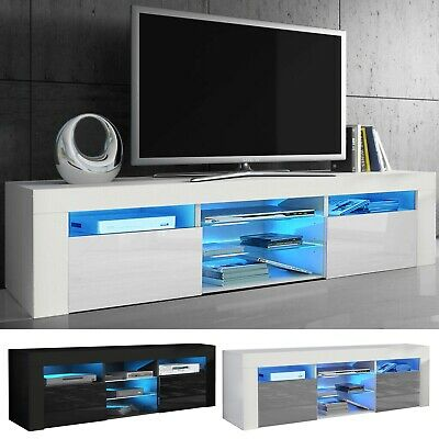 £123.99 • Buy Modern TV Unit Cabinet High Gloss Doors With LED Light TV Stand Sideboard Drawer