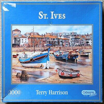 £2.20 • Buy GIBSONS 1000 Piece Jigsaw Puzzle - St Ives By Terry Harrison