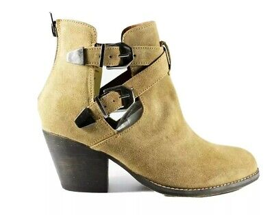 £16.95 • Buy Womens Ladies Ankle Boots Chelsea Block Strap Tan Leather Shoes Size UK 6
