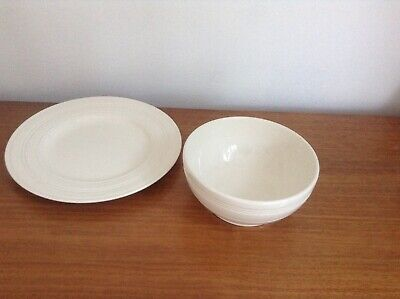 £15 • Buy Jasper Conran For Wedgewood Strata 9  Plate & 6 1/8  Soup Bowl.exc.cond