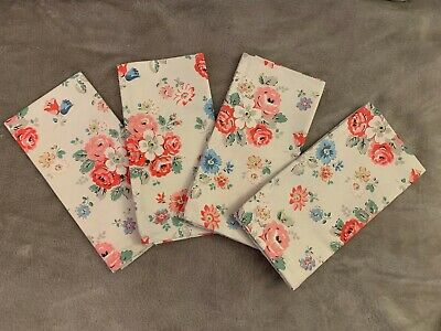 £19.95 • Buy Cath Kidston Floral 100% Cotton Set Of Four 4 Napkins Never Used