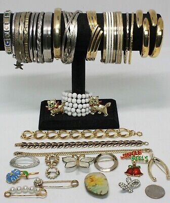 $ CDN8.09 • Buy Great Lot Of Vintage To Now 21 Bracelets And 14 Brooches!
