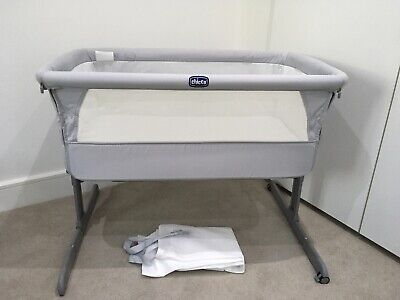 £55 • Buy CHICCO Next2me Next To Me Sleep Crib Cot Bedside Drop Sides Grey (USED TWICE)