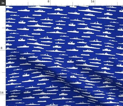 £15.58 • Buy Us Navy Coast Guard Wwii Thin Line Textiles Fabric Printed By Spoonflower BTY