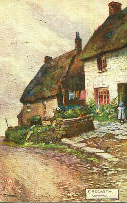 £1.35 • Buy 1904 Postcard Cottages In CADGWITH Cornwall