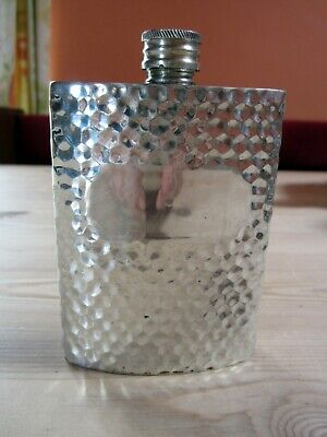 £9.95 • Buy Vintage English Sheffield Pewter 3oz Hammered Hip Flask With Engraving Panel