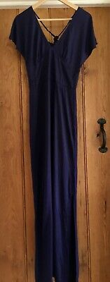 £2.50 • Buy Used Ladies Long Navy Blue Maxi Dress Size 12 From Ruby Rocks