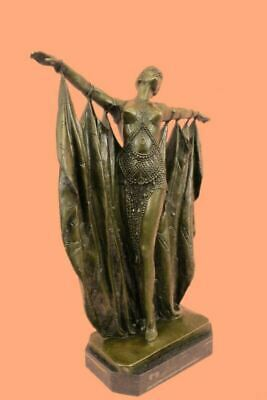 £319.24 • Buy Art Deco Style Signed D. H. Chiparus Bronze Statue Sculpture Dancer Gypsy Shawl