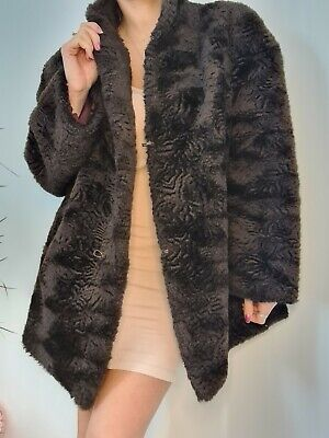 £30 • Buy Vintage Soft Brown Fur Coat Textured, Lined With Hook And Eye Size Large 14 - 16