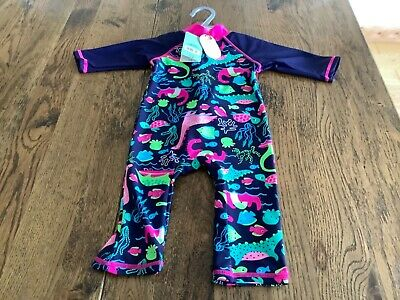 £7.99 • Buy Boots Mini Club Fishes Design All In One Swim Suit 40+ UPF 18mths - 2 Yrs BNWT