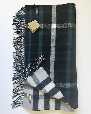 £110 • Buy Burberry Oversized Reversible Wool/Cashmere Duffle Scarf - New With Tags