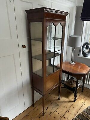 £50 • Buy Antique Glass Display Cabinet With Inlay