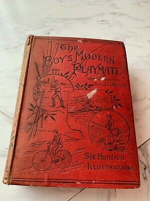 £43.99 • Buy The Boys Modern Playmate By Rev J G Wood 1891 Sports Games & Pastimes Old