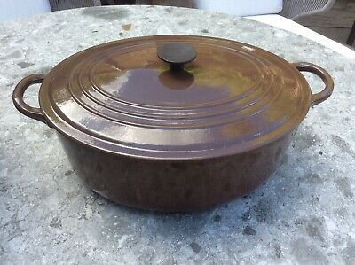 £30 • Buy Le Creuset Cast Iron Chocolate Brown Oval Casserole Dish. Extra Large 29cm